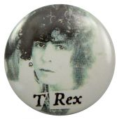 T.Rex - 'Marc Black & White' Button Badge